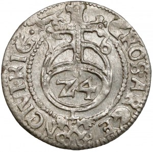 Zygmunt III Waza, Grosz (półtorak) Ryga 1616 - M_L - brak D