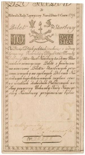 10 złotych 1794 - D - herbowy znak wodny