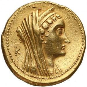 Egipt, królowa Arsinoe i Ptolemeusz Filadelfos, ZŁOTA OKTODRACHMA - 27.9 g