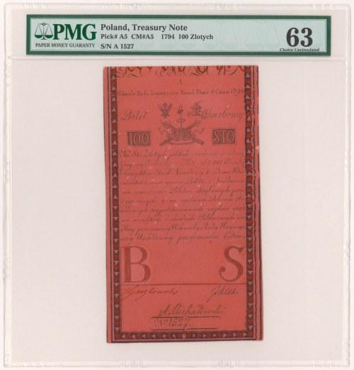 100 złotych 1794 - A - znakomity stan zachowania