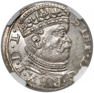 Stefan Batory, Trojak Ryga 1586 - duża głowa - piękny