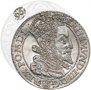 Zygmunt III Waza, Szóstak Malbork 1596 - DUŻA głowa - piękny