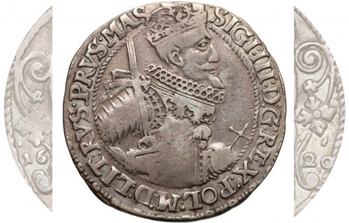 Zygmunt III Waza, Ort Bydgoszcz 1620 - bez II-VE, kwiaty - RZADKOŚĆ