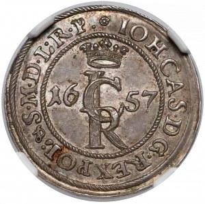 Jan II Kazimierz, Szeląg Gdańsk 1657 - odbitka z oryginalnych stempli (R5)