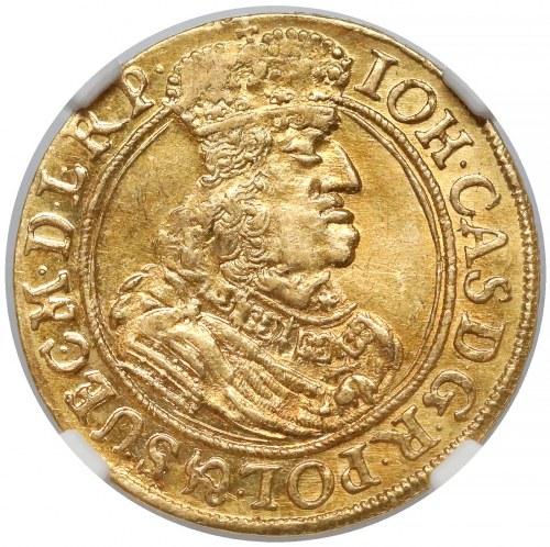 Jan II Kazimierz, Dukat Gdańsk 1663 DL - NIENOTOWANY - piękny