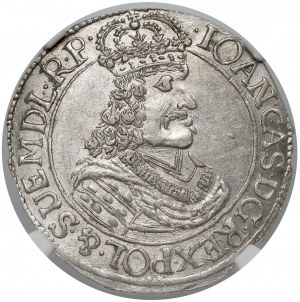 Jan II Kazimierz, Ort Toruń 1666 HD-L - piękny i RZADKI