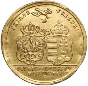 Śląsk, Wrocław, ZŁOTY medal Preliminaria pokojowe 1742 - b.rzadki