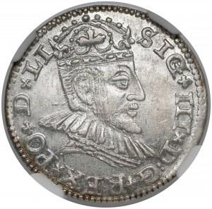 Zygmunt III Waza, Trojak Ryga 1590 - bardzo ładny