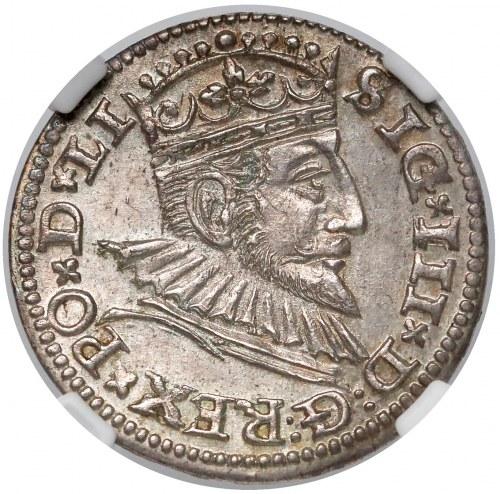 Zygmunt III Waza, Trojak Ryga 1592 - piękny