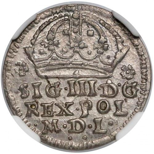 Zygmunt III Waza, Grosz Kraków 1608 - przejściowy - piękny