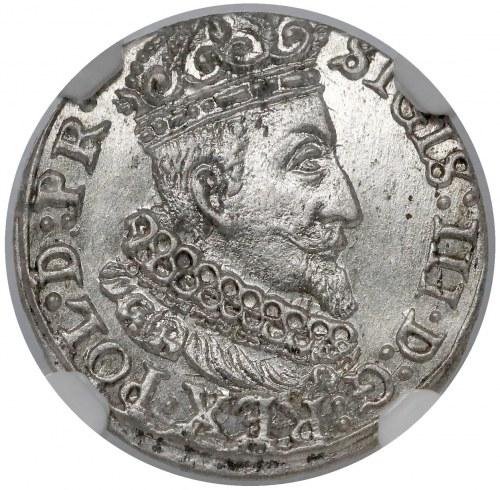 Zygmunt III Waza, Grosz Gdańsk 1624 - PIĘKNY