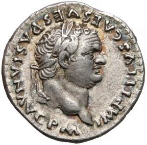 Tytus, Denar Rzym (79) - Statua - bez PP - b.rzadki