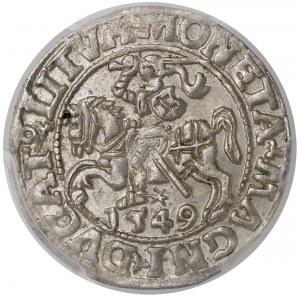 Zygmunt II August, Półgrosz Wilno 1549 - wygięta