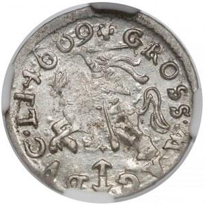 Zygmunt III Waza, Grosz Wilno 1609 - wczesny - ładny