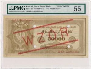 50.000 mkp 1922 - WZÓR - z perforacją