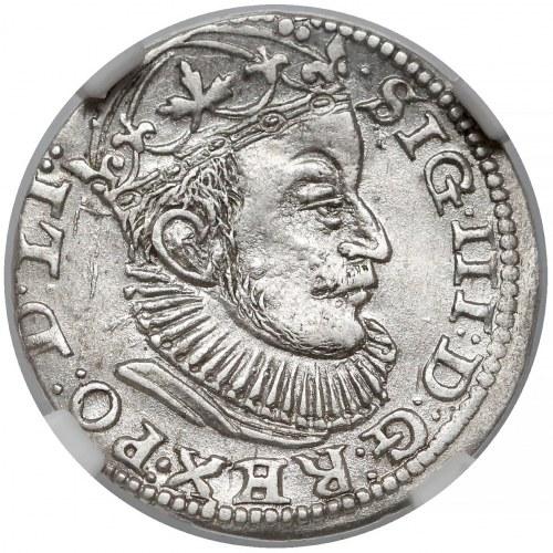 Zygmunt III Waza, Trojak Ryga 1589 - znak przed GE