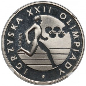 Próba NIKIEL 100 złotych 1980 XXII Olimpiada - biegacz