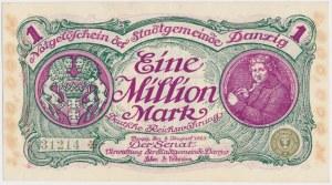 Gdańsk, 1 mln marek 1923 - numeracja 5-cyfrowa