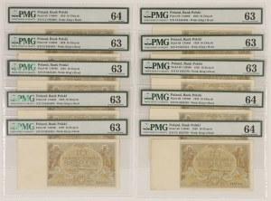 10 złotych 1929 - PMG 64-63 (10szt)