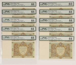 50 złotych 1929 - PMG 64 (10szt)