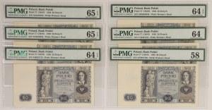 20 złotych 1936 - PMG 65-58 (6szt)
