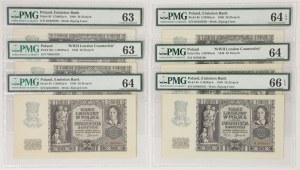 20 złotych 1940 - mix serii - PMG 66-63 (6szt)