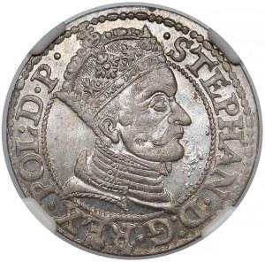 Stefan Batory, Grosz Gdańsk 1579 - bez gwiazdek - piękny