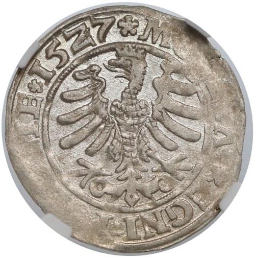 Zygmunt I Stary, Grosz Kraków 1527 - NGC AU55