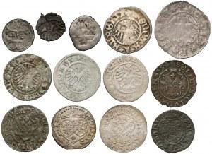 Drobne monety gł. Polski Królewskiej (13szt)