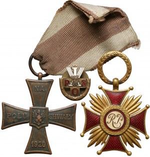 Złoty Krzyż Zasługi, Krzyż Walecznych i Odznaka POS