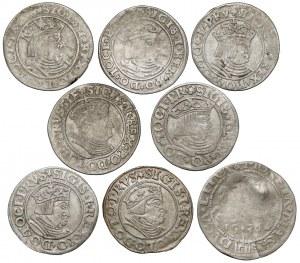 Zygmunt I Stary, Grosze Gdańsk, Toruń i Wilno (8szt)