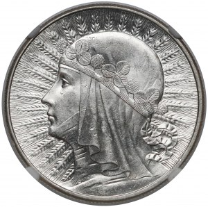 Głowa Kobiety 10 złotych 1932 bz, Londyn