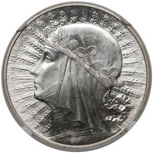 Głowa Kobiety 10 złotych 1933 - SKRĘTKA