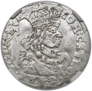 Jan II Kazimierz, Szóstak Bydgoszcz 1662 TT - obwódka na rewersie
