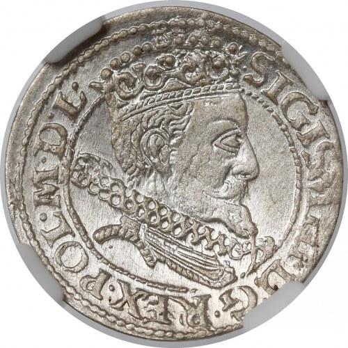 Zygmunt III Waza, Grosz Kraków 1606 - wczesny - menniczy