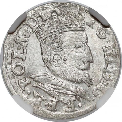 Zygmunt III Waza, Grosz Wilno 1607 - duże popiersie - RZADKI