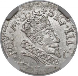 Zygmunt III Waza, Grosz Wilno 1607 - późny - piękny