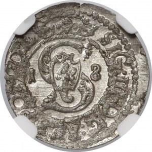 Zygmunt III Waza, Szeląg Wilno 1618 - b. ładny