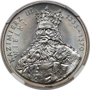 Destrukt 100 złotych 1987 Kazimierz Wielki - końcówka blachy