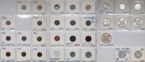 Łotwa, Zbiór monet 1922-39 (31szt)