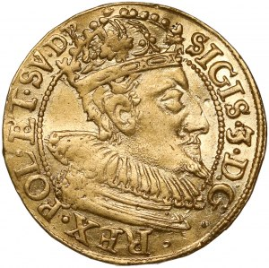 Zygmunt III Waza, Dukat Gdańsk 1610 - inicjały FB - rzadki typ