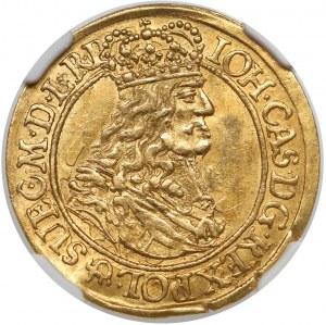 Jan II Kazimierz, Dukat Gdańsk 1667 DL - bardzo rzadki