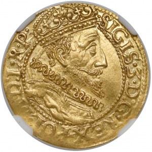 Zygmunt III Waza, Dukat Gdańsk 1612 - duża data - piękny