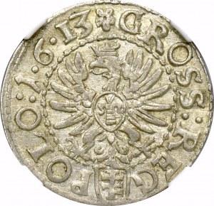 Zygmunt III Waza, Grosz 1613 Kraków - NGC AU58