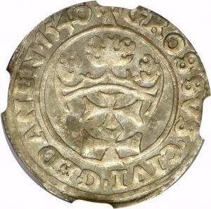Zygmunt I Stary, Grosz 1540 Gdańsk - NGC MS62