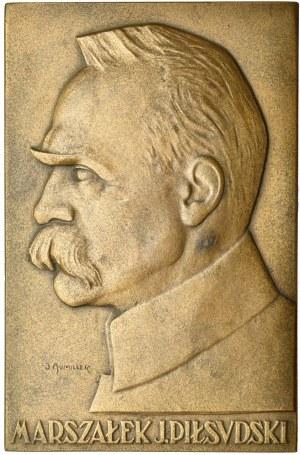 Polska, Plakieta Piłsudski 6*9cm