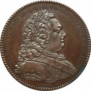 Polska, medal Akademii Stanisławowskiej 1750 brąz