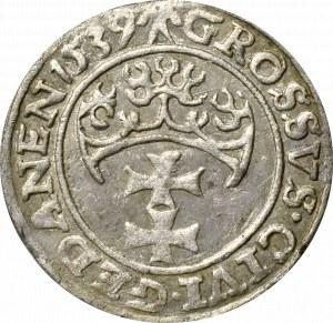 Zygmunt I Stary, Grosz 1539 Gdańsk - nieopisany GEDANEN 1539
