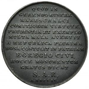 Polska, Medal Stanisław Małachowski Holzhaeusser - kopia XIX w.