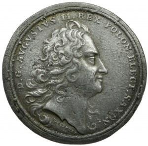 Polska, Medal August II - XIX wieczna kopia kolekcjonerska
